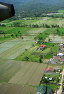 Landeanflug auf Lombok